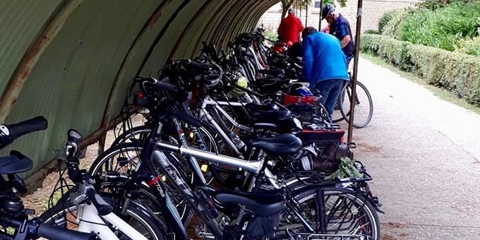Eine gut geschützte Fahrrad-Garrage (Foto: Abel)