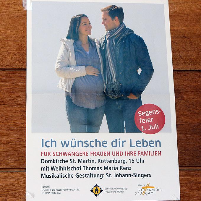 Werbeaktion in Zusammenarbeit mit dem Bischöflichen Ordinariat (Foto: Jung)