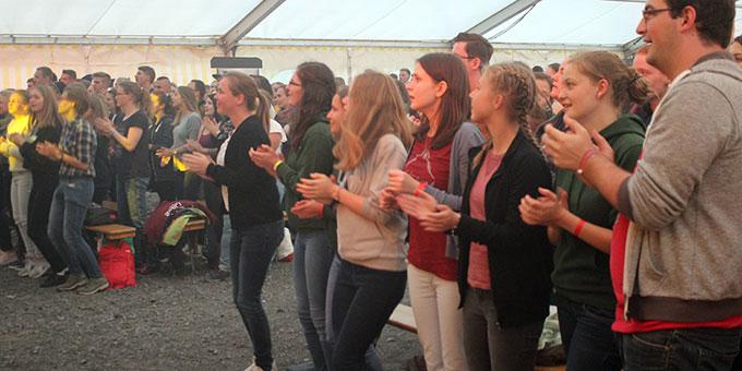 Ein begeistertes Publikum (Foto: NdH)