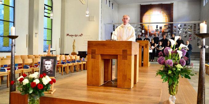 Andacht zum Gedenken an Pater Franz Reinisch an seinem 76. Todestag (Foto: Marlier)