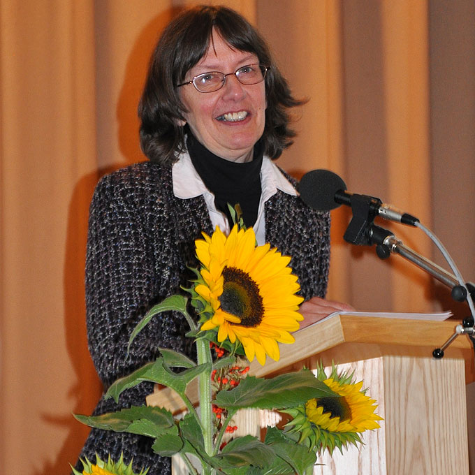 """""""Sympathisch und authentisch"""" referiert Claudia Brehm für die verschiedenen Generationen (Foto: TdFLH)"""
