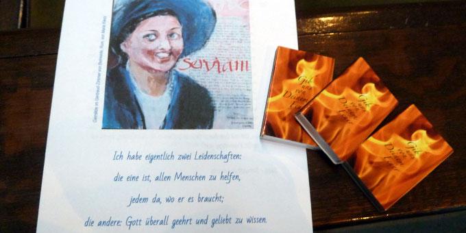 Textheft beim Gertraud von Bullion Freundestreffen in Schönstatt, Vallendar (Foto: Sr. Theres-Marie Mayer)