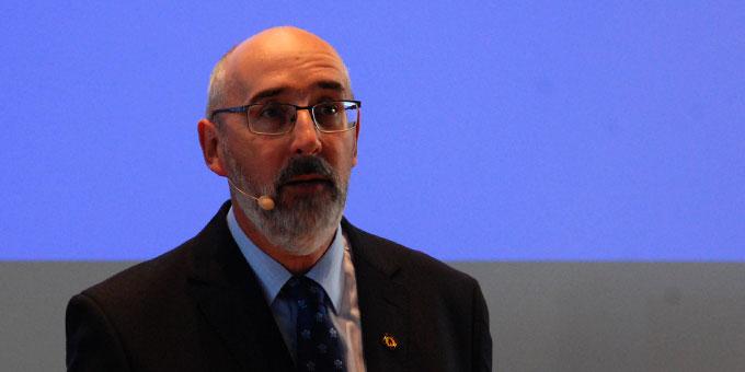 Bernhard Neiser, Institut der Schönstattfamilien, moderierte den Festempfang (Foto: Brehm)