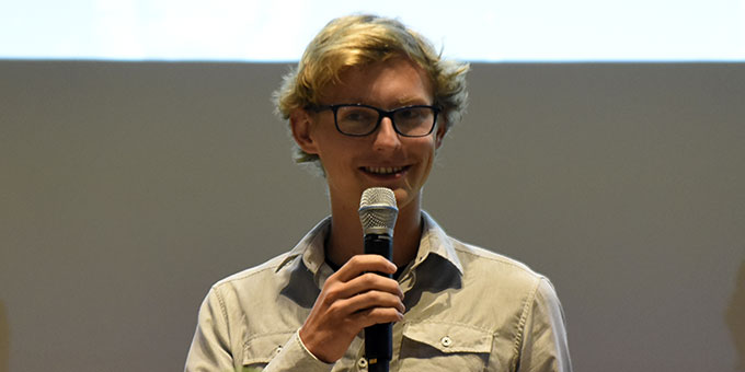 Tobias Ladoni erzählt über seine Erfahrungen als Hauptdarsteller (Foto: Kröper)