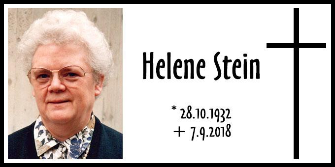 Todesanzeige Helene Stein (Foto: privat)