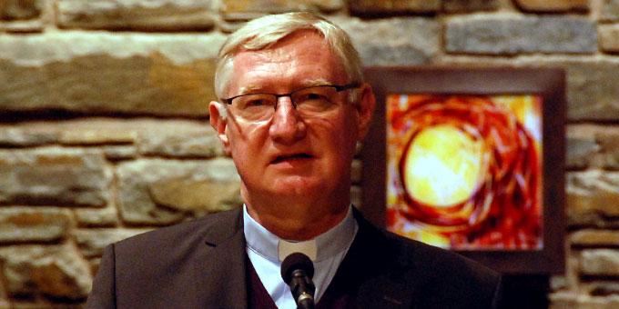 Abschluss des Nachmittages und Zusammenfassung des Oktobertreffens durch Pater Güthlein (Foto: Brehm)