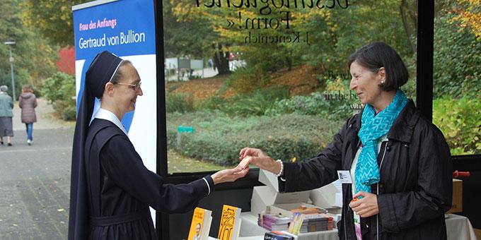 Schönstatt-Meile: Informationen über Gertraud von Bullion (Foto: Brehm)