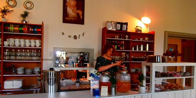 Das neue Café Kentenich im Bundesheim wird bei größeren Anlässen eigens geöffnet (Foto: Sr. Brigitt Rosam)