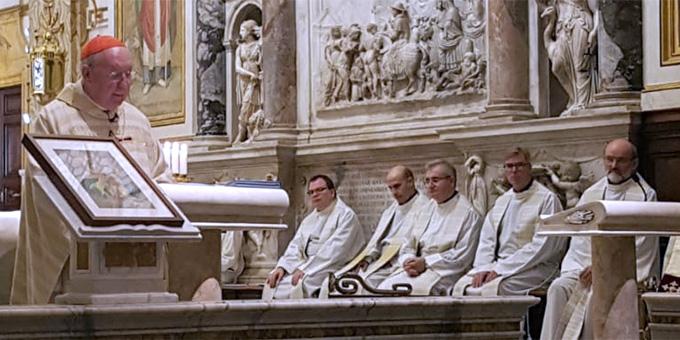 Predigt: Kardinal Kevin Farell, Präfekt des Dikasteriums für die Laien, die Familie und das Leben (Foto: Walter)