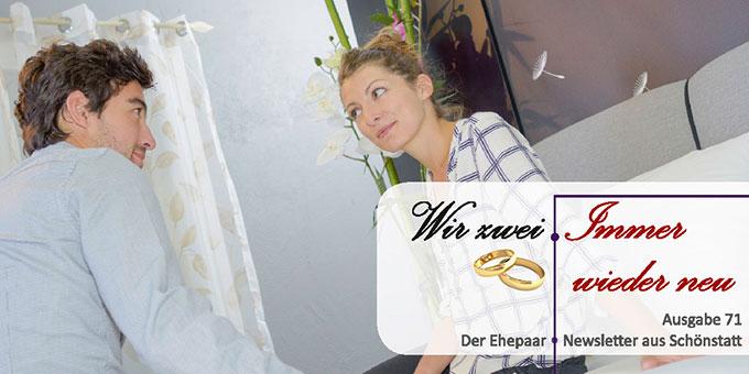 """Ehepaar-Newsletter 11/2018 """"Wir zwei - Immer wieder neu"""" (Foto: (c) auremar, fotolia.com)"""