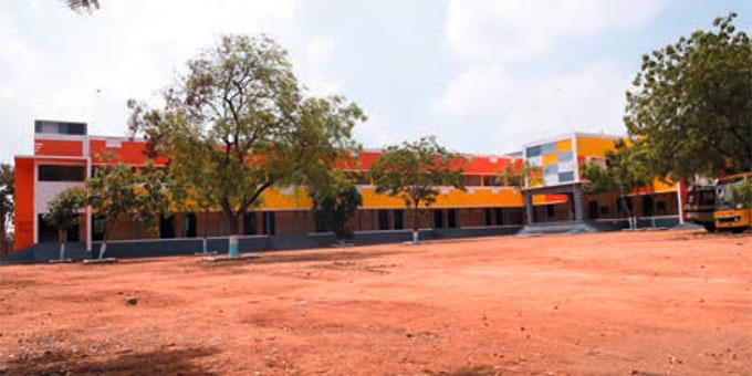 Das neue Schulhaus im Sunrise Village, Indien (Foto: bewegenswert eV)