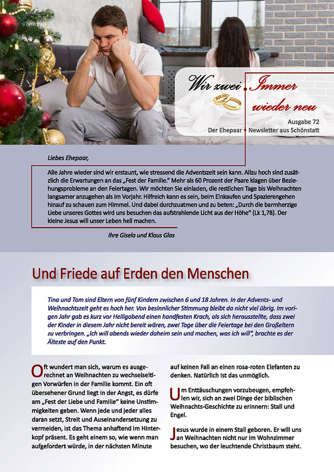 "Ehepaar-Newsletter 12/2018 ""Wir zwei - Immer wieder neu"" (Foto: (c) kolotype, fotolia.com)"