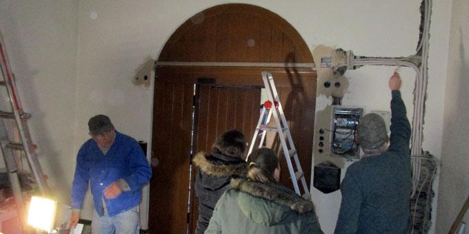 Erneuerung der Elektroinstallation (Foto: Weweler)