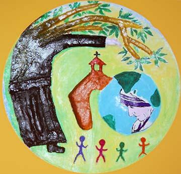 """Logo des """"Learning from the Garden""""-Projektes der Schönstatt-Patres in Indien (Foto: Brehm)"""