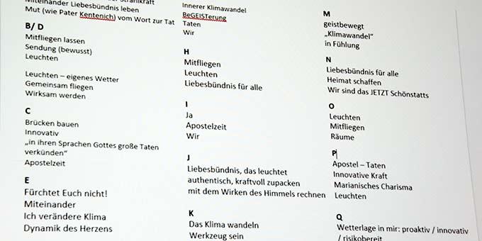 Eine Sammlung aus 17 Arbeitsgruppen (Foto: Brehm)