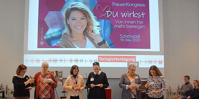 Infos zum Frauenkongress 2020 (Foto: Brehm)