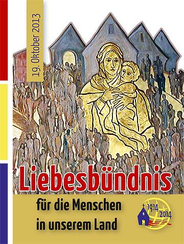 Gebetsblatt: Liebesbündnis für die Menschen in unserem Land (Gestaltung: M.J.Fernandez / Brehm)