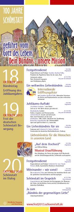 Programm-Plakat Fest 2013 (Gestaltung: Grabowska/Brehm)
