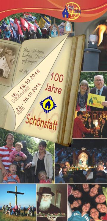 Einladungsflyer der Schönstatt-Bewegung Deutschland zum Jubiläum 2014