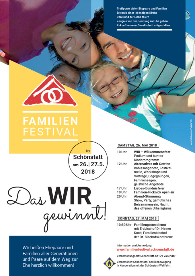 Familienfestival in Schönstatt/Vallendar - Plakat (Grafik: Jehle)