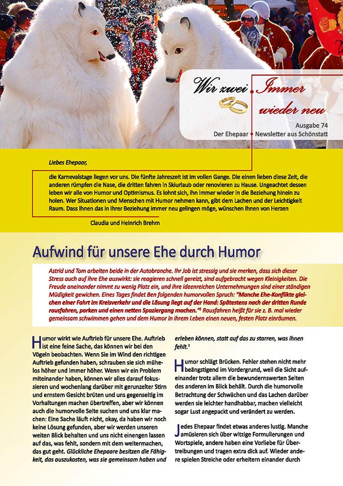 """Ehepaar-Newsletter 02/2019 """"Wir zwei - Immer wieder neu"""" (Foto: digitaldino, pixabay.com)"""