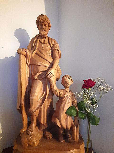 Statue des Heiligen Josef im Schönstatt-Zentrum Marienberg (Foto: R.S.)
