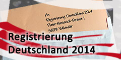 Registrierungsbüro Deutschland 2014 (Foto: Brehm)