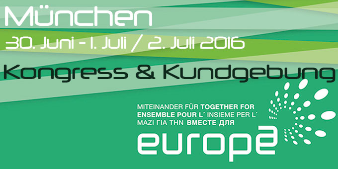 Miteinander für Europa 2016 in München