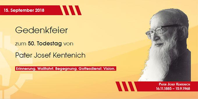 Pater-Josef-Kentenich-Tag (Grafik: Brehm, Foto: Zehnder)
