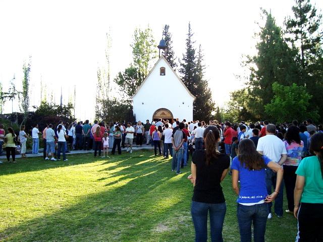 Santa Misa en el portal del Santuario de Mendoza