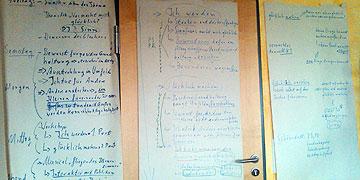 """Ganze """"Ideen-Spinnnetze"""" für das Programm sind entstanden (Foto: Birringer)"""