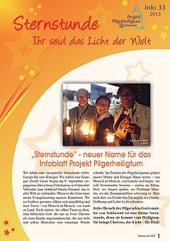 """Die Titelseite der neuen """"Sternstunde"""" (Projekt Pilgerheiligtum)"""