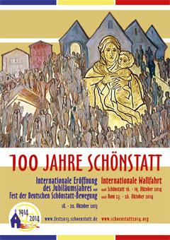 Plakat zum Jubiläumsjahr der internationalen Schönstatt-Bewegung