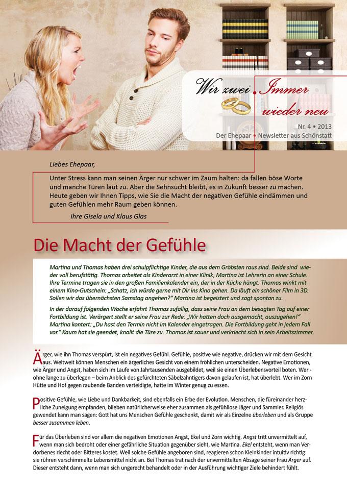 """Die Macht der Gefühle - Ehepaar-Newsletter """"Wir zwei - Immer wieder neu"""" (Foto: nruboc - clipdealer.com)"""