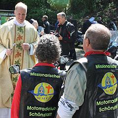 Einige der Teilnehmer haben sich zusammengeschlossen im MMCS – Missionarischer Motorrad-Club Schönstatt (Foto: AMBrück)