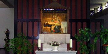 Abschluss des Pilgertages bei der Pietà in Grefrath (Foto: Hahn)
