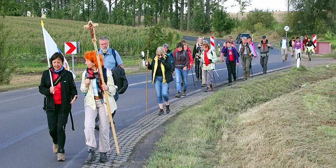 Unterwegs auf dem Pilgerweg zum Urheiligtum in Schönstatt, Vallendar (Foto: Günther)