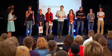 Die Workshopleiter des Vormittages stellen ihr Angebot vor (Foto: Brehm)