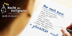 Motto der Nacht des Heiligtums 2013 (Foto: NdH)