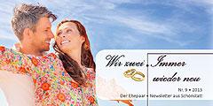 """Der neue Ehepaar-Newsletter """"Wir zwei - Immer wieder neu"""" ist erschienen  (Fotos: © detailblick - Fotolia.com)"""
