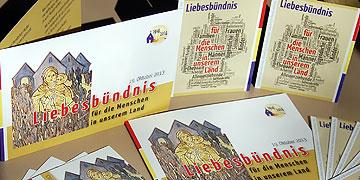 """Schönstatt Fest 2013 - Doppelkarte und Gebetsbildchen zum """"Liebesbündnis für die Menschen in unserem Land"""""""