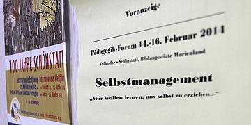 """von 14. bis 16. Februar 2014 wird es in Vallendar Schönstatt ein Pädagogik-Forum zum Thema """"Selbstmanagement"""" geben  (Foto: Grabowska)"""