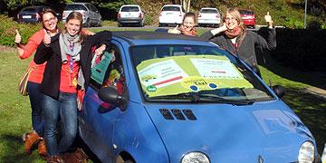 Junge Frauen freuen sich auf den Start des Projektes Schönstatt-Taxi ab Januar 2014  (Foto: Heger)
