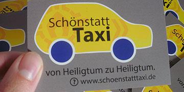 Info-Kärtchen zum Verteilen (Foto: Heger)
