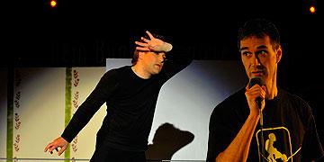 Hochseil-Artist und Sänger machen Josef Kentenich präsent (Foto: Kröper)