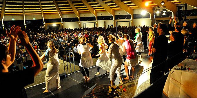 Uraufführung des Musicals vor 2.000 begeisterten Zuschauern (Foto:Kröper)