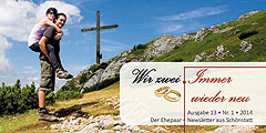 "Ausgabe 13 / Nr.1-2014 des Ehepaar-Newsletters ""Wir zwei - Immer wieder neu"" (Foto: © bettina sampl - Fotolia.com)"