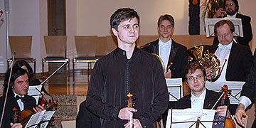 Aleksey Semenenko, geboren 1988 in Odessa, Vertreter der berühmten Stoljarski Violinschule, derzeit zum Aufbaustudium in der Meisterklasse von Zakhar Bron an der Hochschule für Musik und Tanz, Köln (Foto: Brehm)