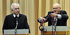 Referent Georg Egle und Diözesanverantwortlicher Franz Bradler beim Tag für Männer und Väter (Foto: SAL)