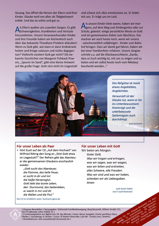 "Ehepaar-Newsletter 03/2014 ""Wir zwei - Immer wieder neu"" S.2 (Foto: © pit-fall - Fotolia.com)"